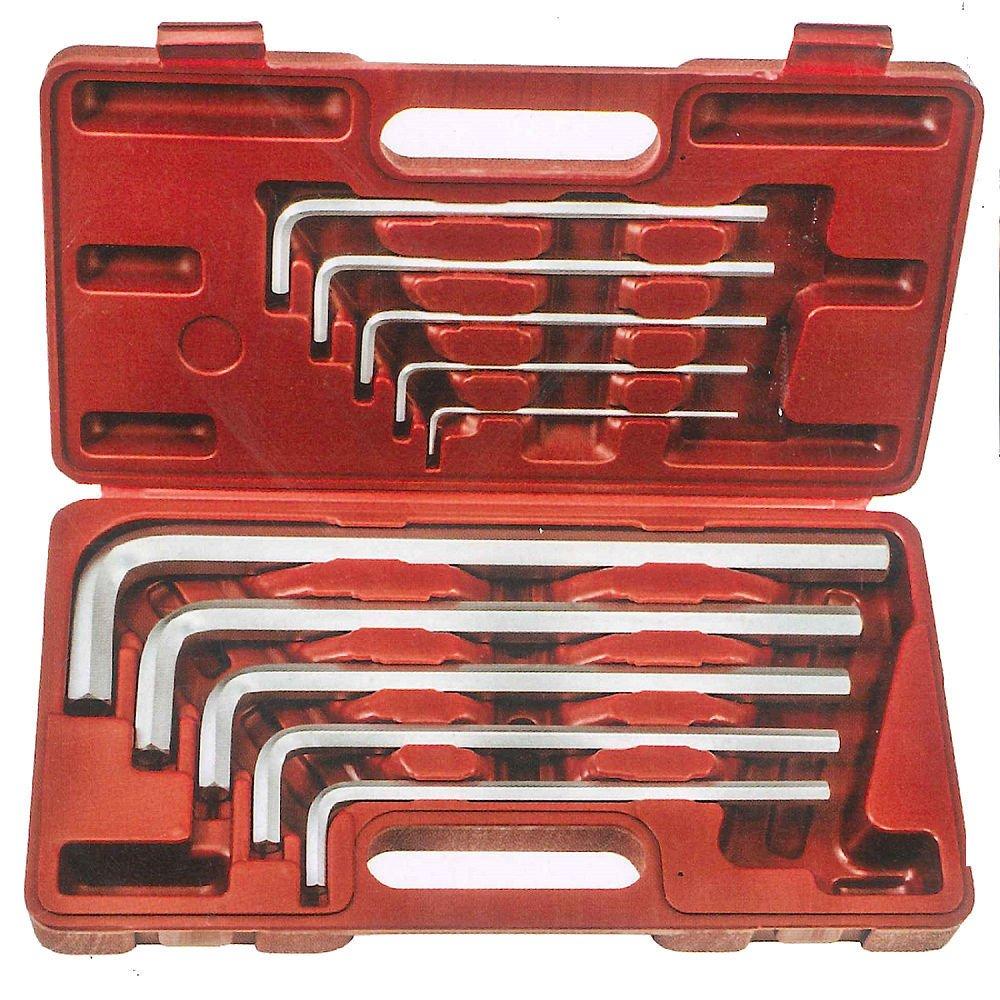Hộp lục giác 10 chi tiết hệ mét 3-17mmTOP TWT-10 (Đỏ)