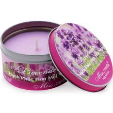 Hộp nến tin thơm hương oải hương Miss Candle FtraMart FTM-NQM2127 (Tím)