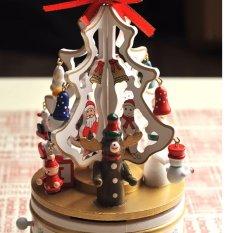 Nơi mua Hộp nhạc cây thông Noel gỗ (Trắng)