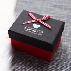 Hộp quà chữ nhật Just For You Đựng son (nắp đen, hộp đỏ)