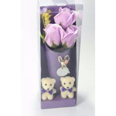 Hộp quà hoa hồng sáp thơm gấu bông