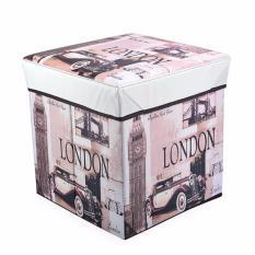 Hộp Vải Làm Ghế Ngồi 2In1 Đựng Đồ Đa Năng Thu Gọn London
