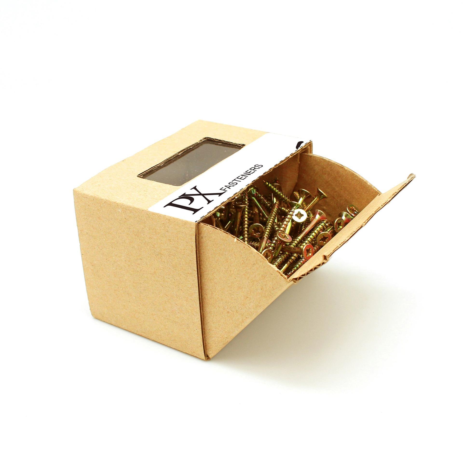 Hộp vít gỗ PX 303100002 đầu PZ 3×35 275 Con (Vàng) / PZ Chipboard Screw box 3×35 275pcs (Yellow)