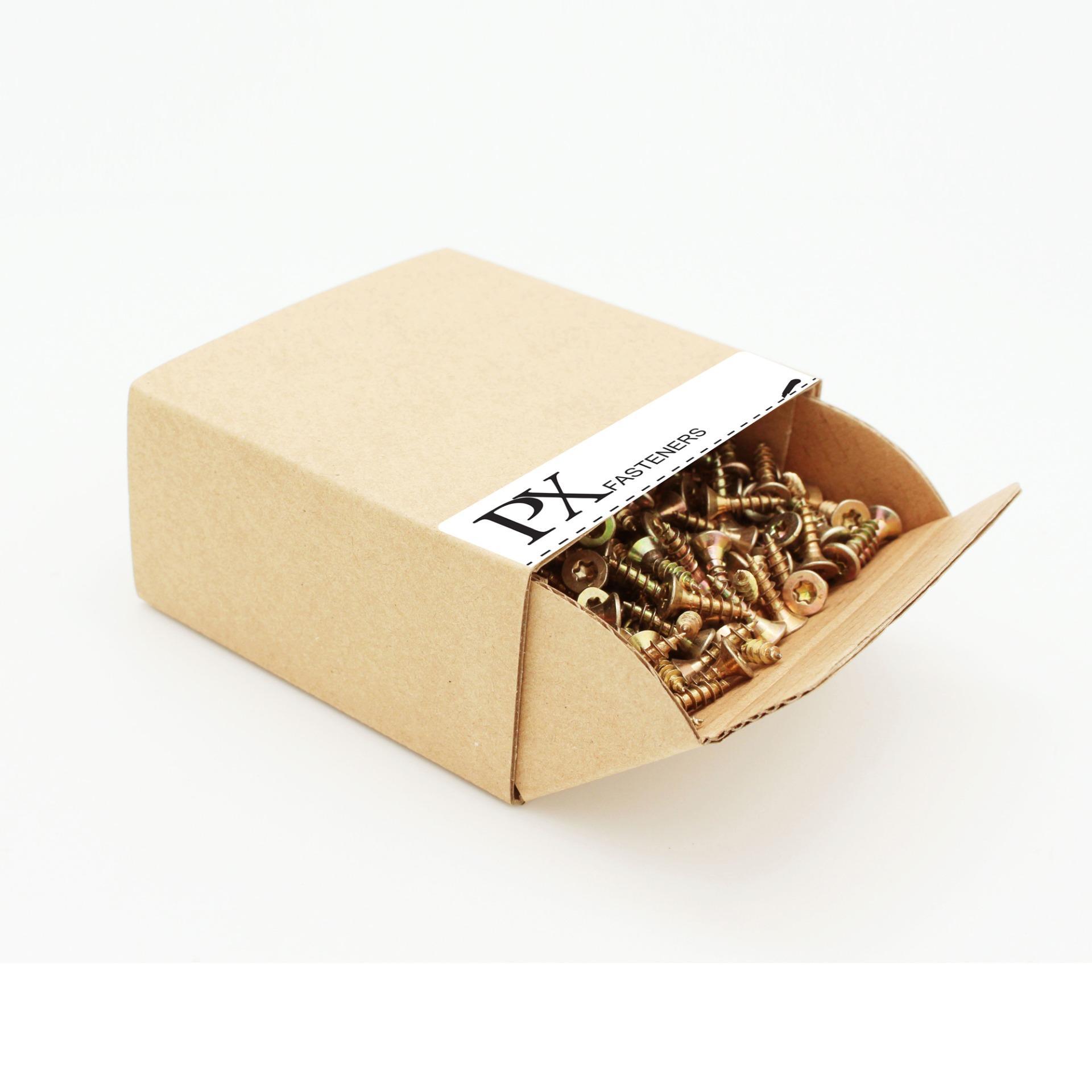 Hộp vít gỗ PX 303100022 đầu TX 4×16 200 Con (Vàng) / TX Chipboard Screw box 4×16 200pcs (Yellow)