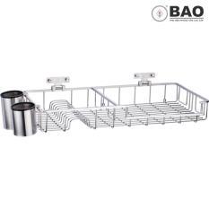 Kệ chén dĩa treo tường BAO – VTL370 (Inox 304)