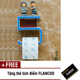 Kệ dán tường nhà tắm Flancoo 9861 (Xanh đen) + Tặng kèm thẻ tích điểm Flancoo
