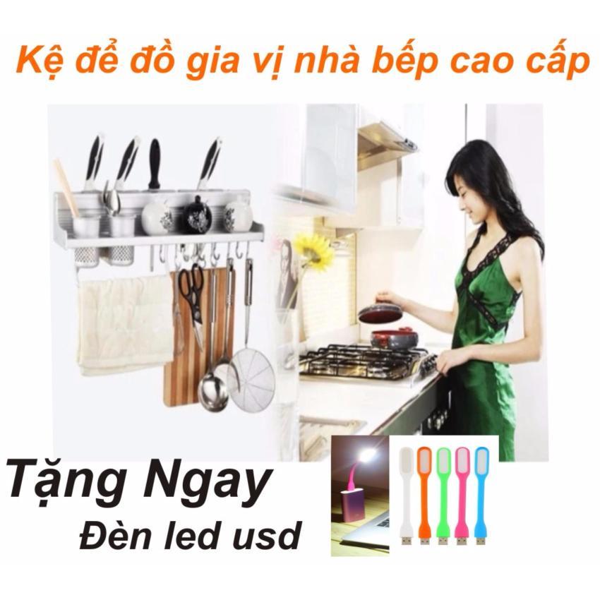 Kệ để đồ và gia vị nhà bếp đa năng Kailang loại 2 ống 60cm cao cấp _ Hàng nhập...