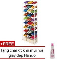 Cập Nhật Giá Kệ để giày dép 10 tầng đa năng + chai khử mùi hôi giầy mũ bảo hiểm Hando