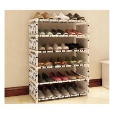 Kệ để giày dép 6 tầng mẫu mới thời trang (Bò sữa)