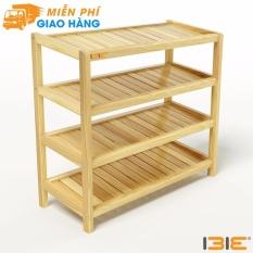 Kệ dép 4 tầng IB473 gỗ cao su 73x30x68 cm màu tự nhiên
