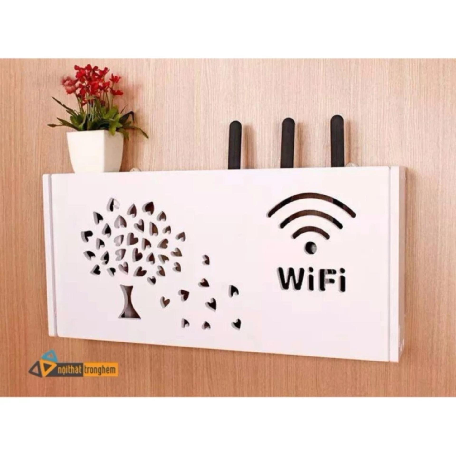 Kệ đựng Wifi Cây lá treo tường – Pima dày 5mm