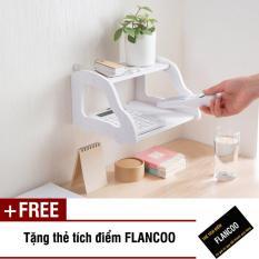 Kệ gỗ nhựa PVC treo tường đa năng Flancoo S0941 (Trắng) + Tặng kèm thẻ tích điểm Flancoo