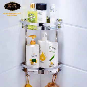 Kệ góc đôi phòng tắm Inox SUS 304Eurolife EL-KG2