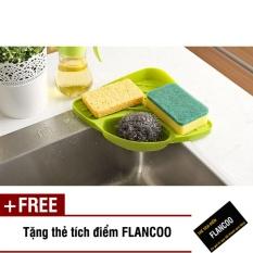 Kệ góc nhà bếp đa năng Flancoo 8151 (Xanh lá) + Tặng kèm thẻ tích điểm Flancoo