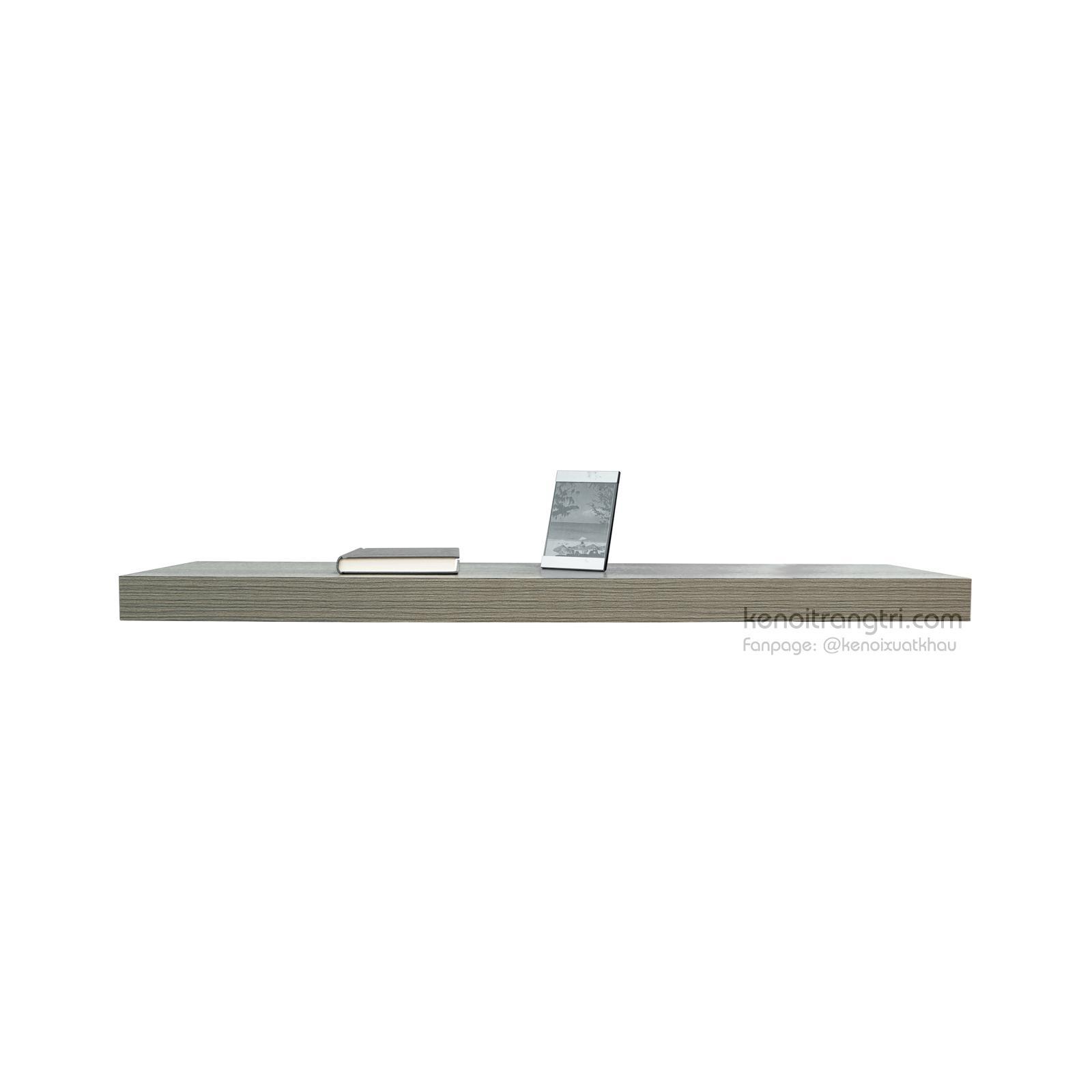 Kệ nổi trên tường 1 thanh 120x26x5 cm Modo Harac M7 (Xám vân gỗ)