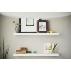 Kệ nổi trên tường bộ 2 : 60×19.5×3 cm Modo Blanca (trắng)