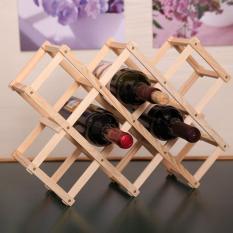 Kệ rựơu xếp 10 chai gỗ Đức Thành 40401
