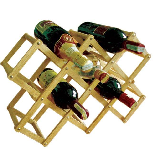 Giá Sốc Kệ rượu xếp 10 chai Gỗ Đức Thành 40401