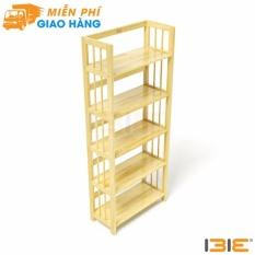 Kệ sách 5 tầng HB563 gỗ cao su màu tự nhiên (63cm)