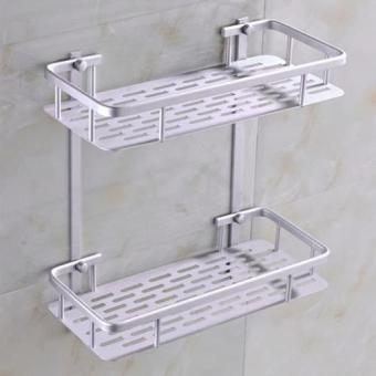 Kệ treo nhà tắm 2 tầng hợp kim