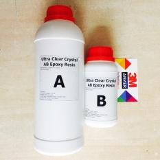 Keo đổ nhựa làm khuôn, tranh 3D trong suốt cao cấp Epoxy Resin Ultra Clear DTAB2 đổ dày được 1kg