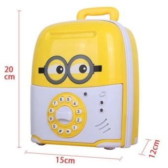 Két đựng tiền hình vali kéo cho bé  (Sử dụng pin Có mật khẩu mở) + Tặng dụng lấy ráy tai có đèn