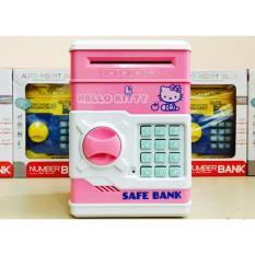 Két sắt mini thông minh giúp bé học cách tiết kiệm tiền ( Hồng) - Ngân hà store