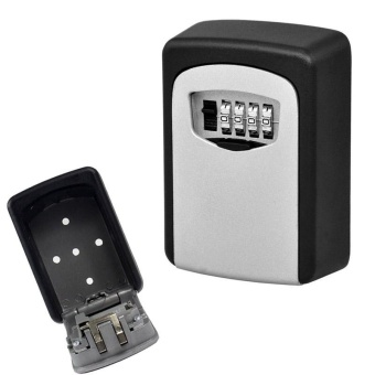 Key Storage Lock Box Wall Mount Holder 4 Digit Combination - intl