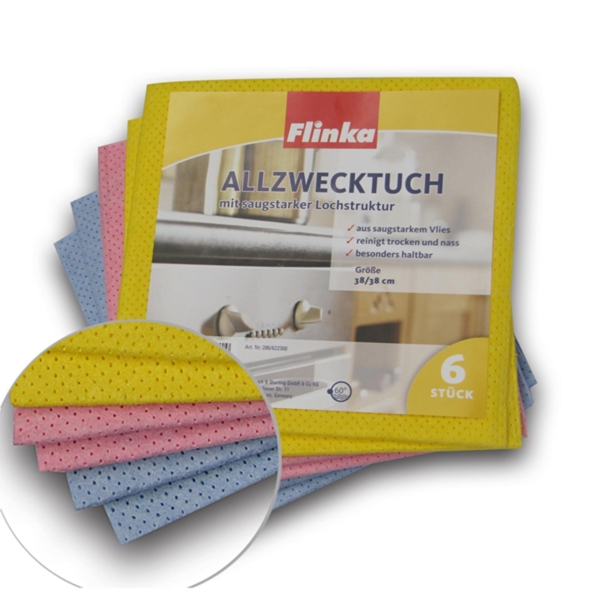 Khăn lau lỗ thoáng Flinka 286 ( túi 6 chiếc *nhập khẩu nguyên túi tại CHLB Đức)