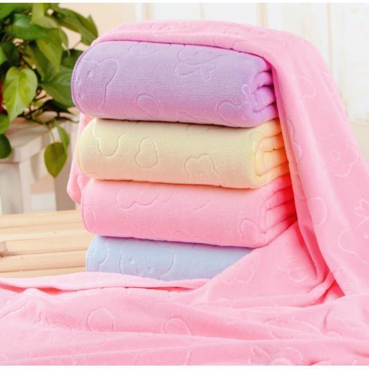 Trang bán Khăn tắm cao cấp siêu mềm loại lớn 70x140cm (Nhiều màu)