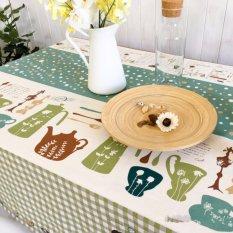 Khăn trải bàn cao cấp họa tiết sọc chấm bi BINBIN KB05 (140x180cm)