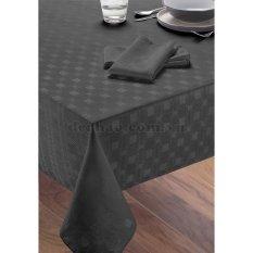 Khăn trải bàn hình chữ nhật màu đen dulem- Rộng 132cm Dài 178cm