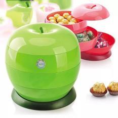 Khay đựng mứt,kẹo tết hình trái táo 3 tầng