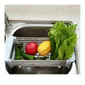 Khay inox cao cấp đa năng để bồn rửa chén co giãn tiện ích