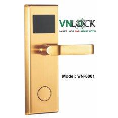 Khóa cửa thẻ từ VNLOCK, model VN-8001, màu vàng