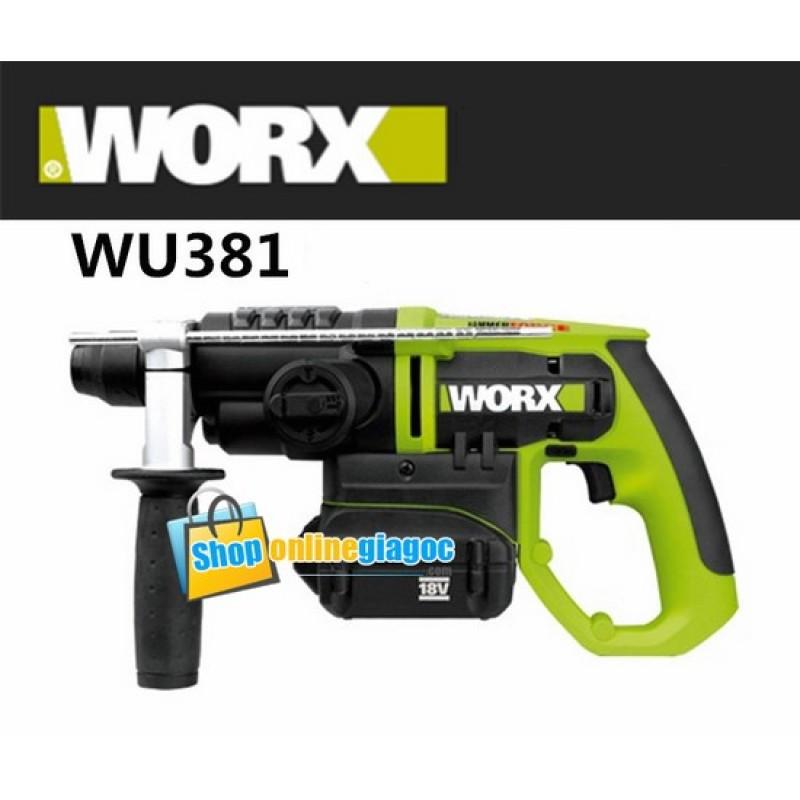 Khoan Bê Tông Dùng Pin WORX-XU381