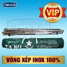 Khung võng xếp cao cấp TAKO INOX 100% (VIP)-không lưới võng