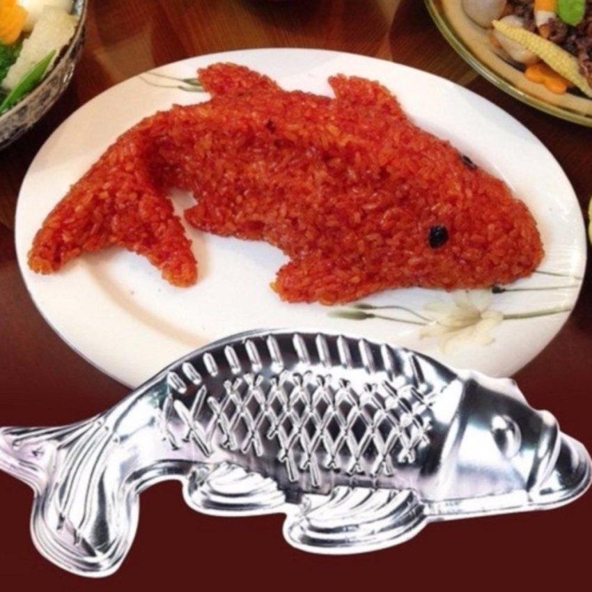 Hình ảnh Khuôn làm xôi, bánh, rau câu hình cá chép (Bạc)