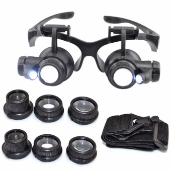 Kính lúp đeo mắt khoảng cách xem vật 5mm-15mm phóng to vật 10x 15x 20x 25x ( Thanh Hồng Shop )