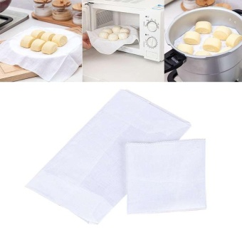 Kitchen Cooking Cotton Steamer Cloth Dumpling Steamer Cloth Breathable Cloth - intl