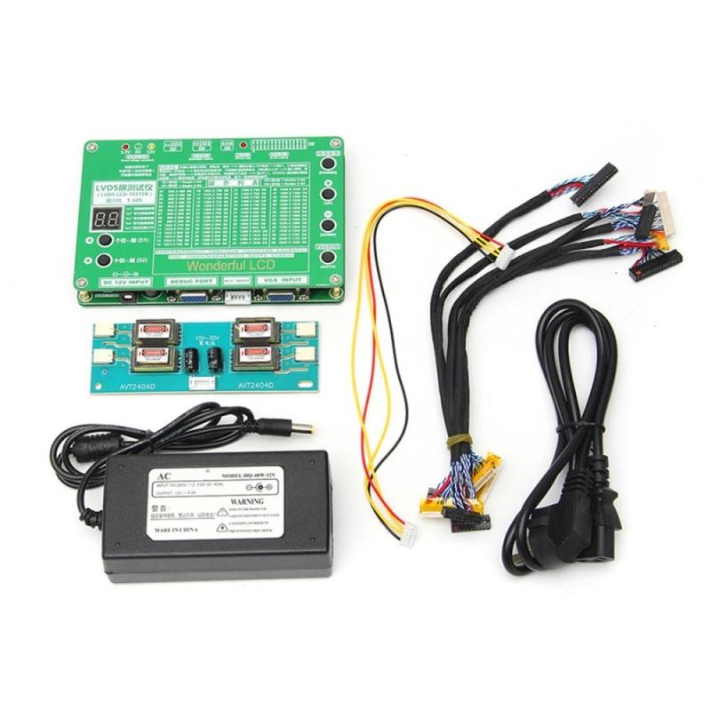 Laptop LCD/LED Test Tool Kit Panel Screen Tester+ 6PCS Lvds Cables + Inverter - intl
