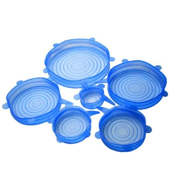 Leegoal Silicone Fresh Lids Stretchy Silicone Cover Reusable FoodSeal Saving Wrap for Various Sizes Shapes of Bowls,Set of 6,Blue -intl - 8246853 , LE838HLAA3YPP1VNAMZ-7114392 , 224_LE838HLAA3YPP1VNAMZ-7114392 , 1052000 , Leegoal-Silicone-Fresh-Lids-Stretchy-Silicone-Cover-Reusable-FoodSeal-Saving-Wrap-for-Various-Sizes-Shapes-of-BowlsSet-of-6Blue-intl-224_LE838HLAA3YPP1VNAMZ-7114392 , laza