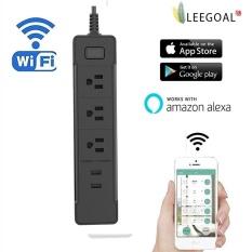 leegoal US Plug - Wifi Smart Outlet Socket USB Socket Remote Control Smart Plug Amazon Alexa Voice Control - Black - intl