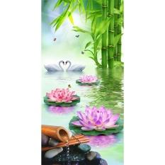 Hoa sen Thiên Nga 5D Kim Cương TỰ LÀM Tranh Thủ Công Trang Trí Nhà-quốc tế