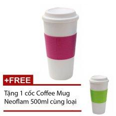 Giá Sốc Ly giữ nhiệt Coffee Mug Neoflam (Hồng) + Tặng 1 cốc CoffeeMugNeoflam (Xanh lá)
