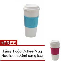 Giá Ly giữ nhiệt Coffee Mug Neoflam (Xanh dương) + Tặng 1 cốc CoffeeMug Neoflam (Hồng)