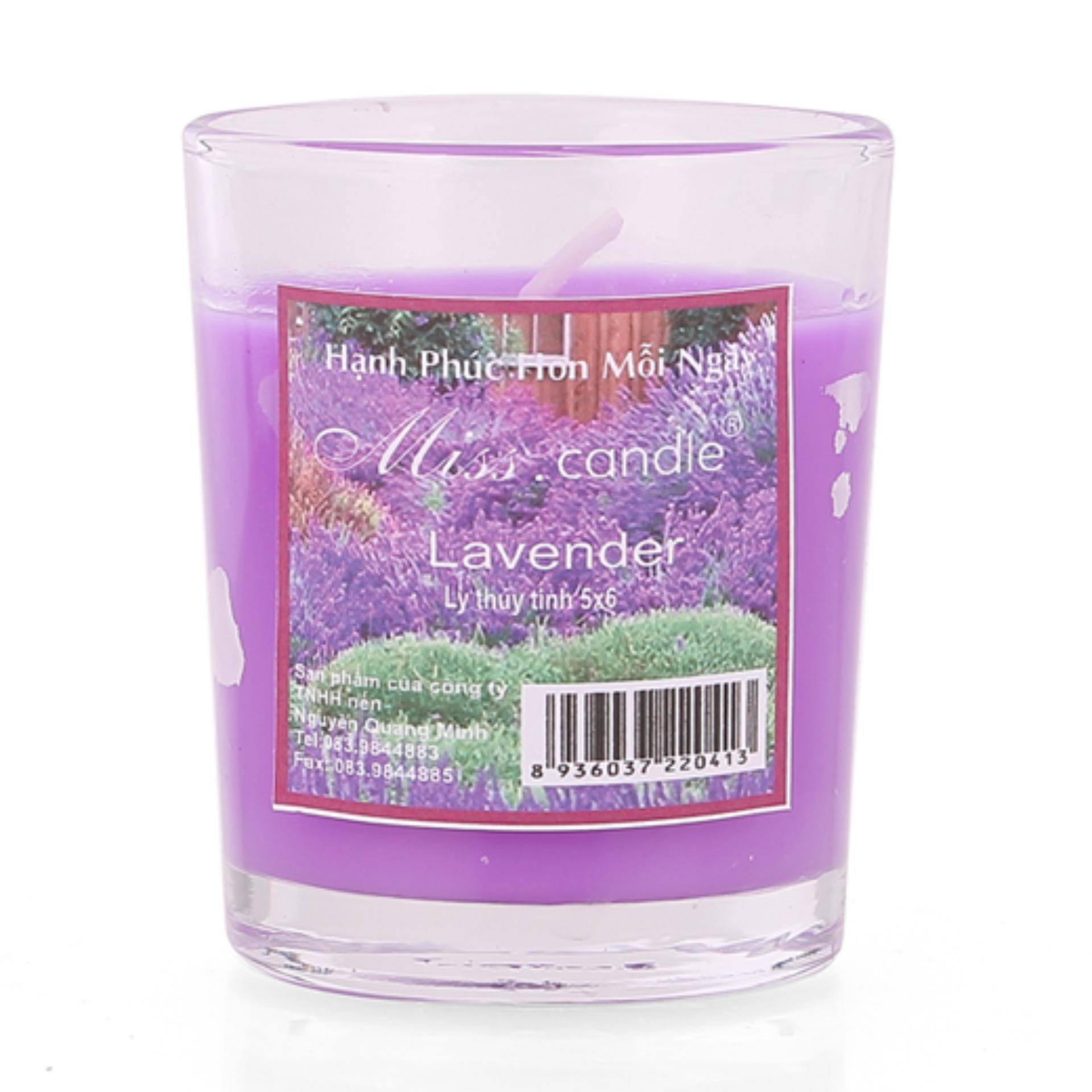 Ly nến thơm votives hương oải hương Miss Candle FtraMart FTM-NQM0413 (Tím)