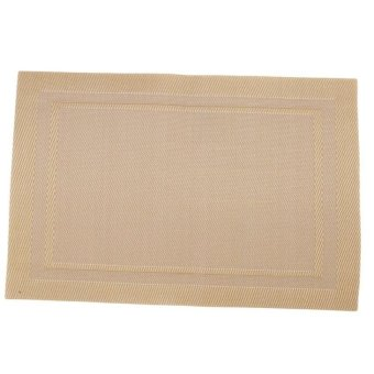 LZ High Quanlity Pvc Table Mat Hotel Placemat Gold - intl