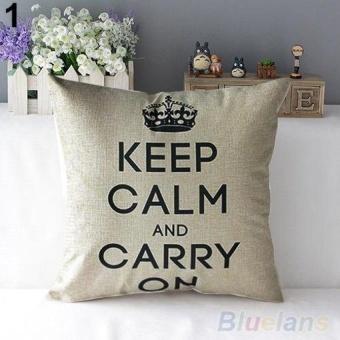 Làm sao mua LZ Retro Home Decorative Linen Cotton Blended Crown Throw Pillow Case - intl So giá
