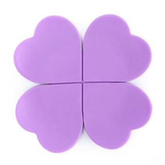 LZ Silicone Nonskid Cup Mat Flower Shape Insulator Pad(Purple) - intl